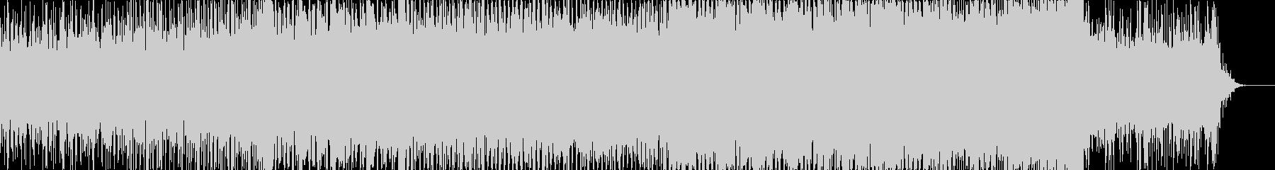 テクノ調ダンスナブルな電子サウンドの未再生の波形
