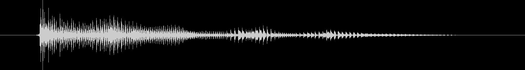 パーカッション 口ハープ10の未再生の波形