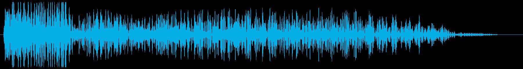 ドン ヒューン(低音で深く響く音)の再生済みの波形