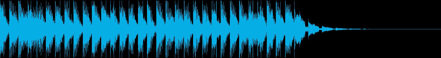 サウンドロゴやジングル等に使用できる音源の再生済みの波形