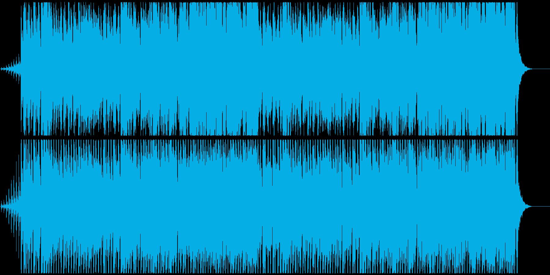 軽快で楽しいイメージのBGMの再生済みの波形