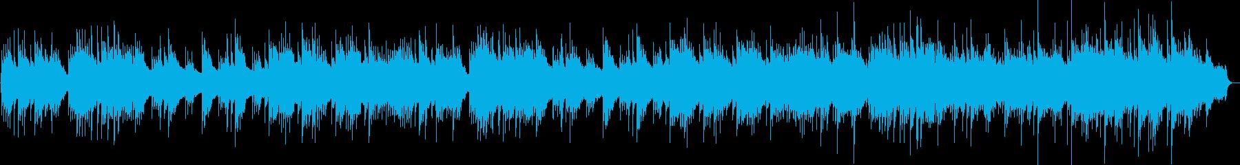 優しい木漏れ日をイメージしたインスト曲の再生済みの波形