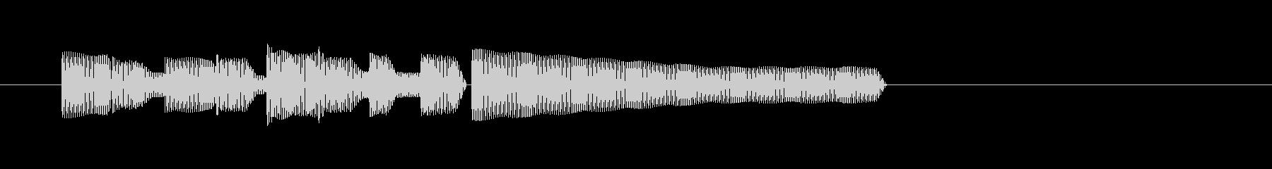 レトロゲーム・和風のジングル5の未再生の波形
