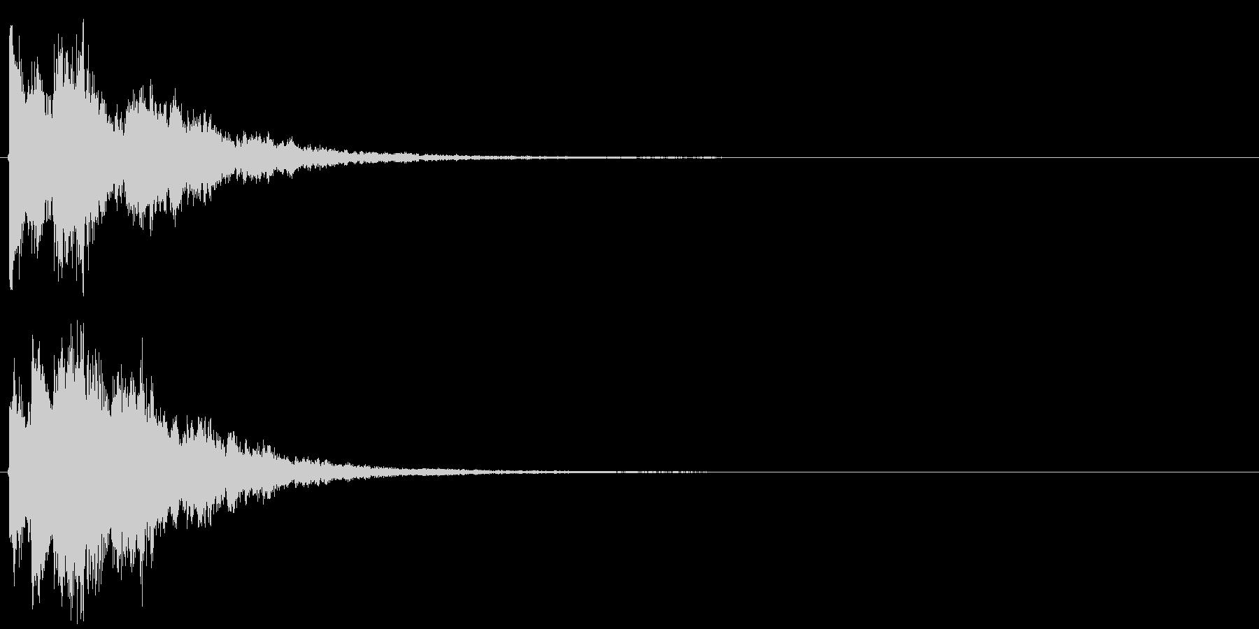 決定音・ボタン音(硬質・派手)3の未再生の波形