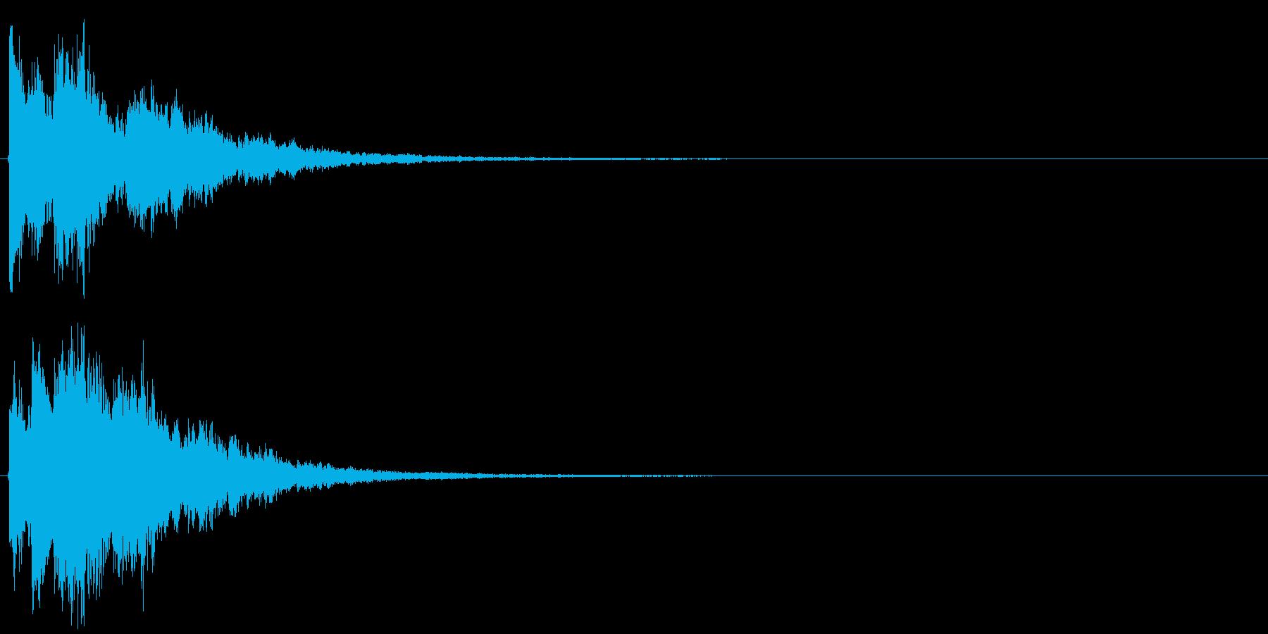 決定音・ボタン音(硬質・派手)3の再生済みの波形