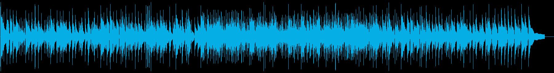 ゆっくりお洒落滑らかなピアノJAZZの曲の再生済みの波形