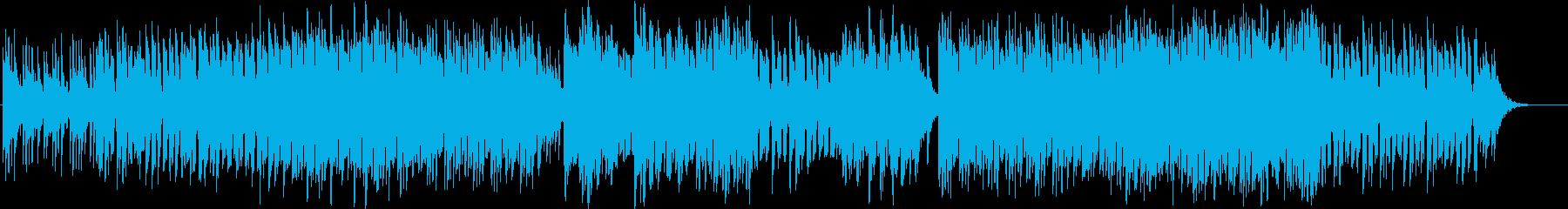 和風な雰囲気のリズミックなBGMの再生済みの波形