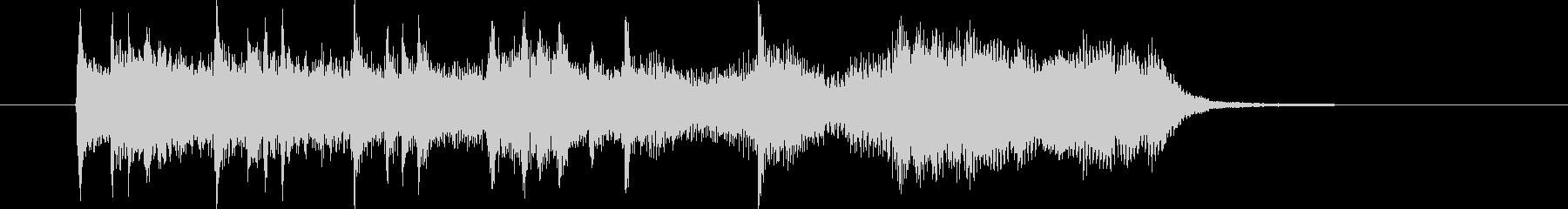 ミディアムテンポのチェンバロサウンドの未再生の波形