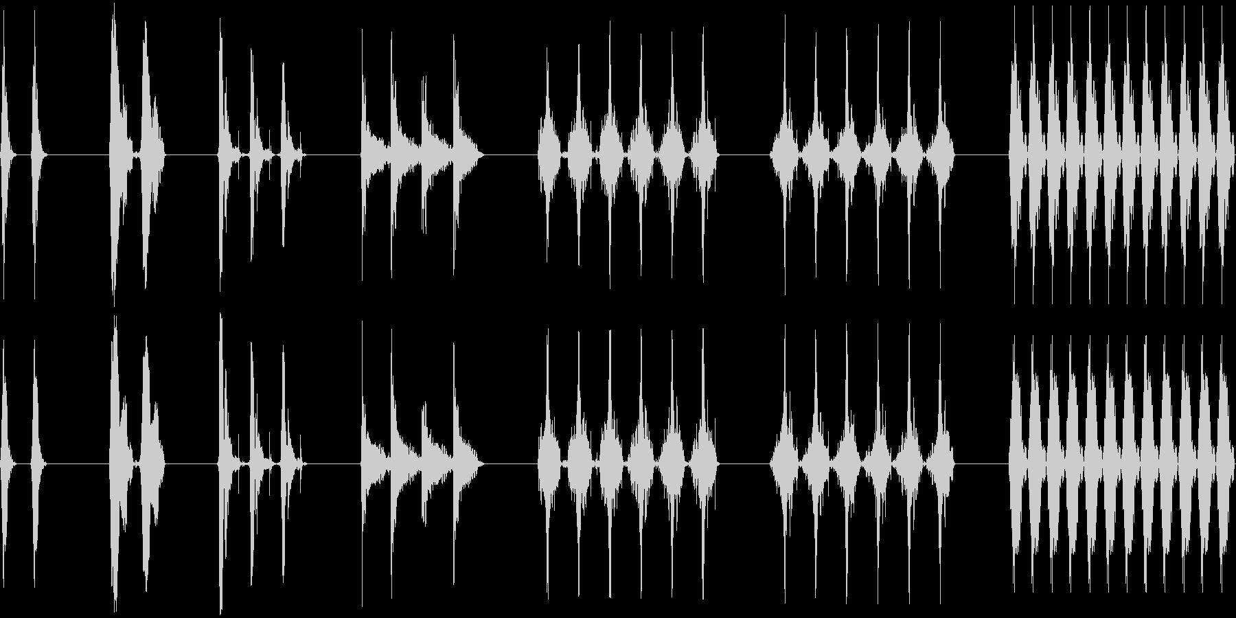 レーザー研磨、7バージョン、レーザ...の未再生の波形
