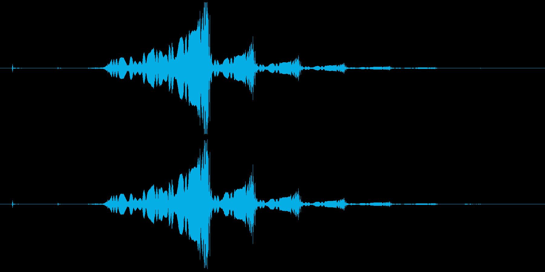 怪しいエレキギターのロゴの再生済みの波形