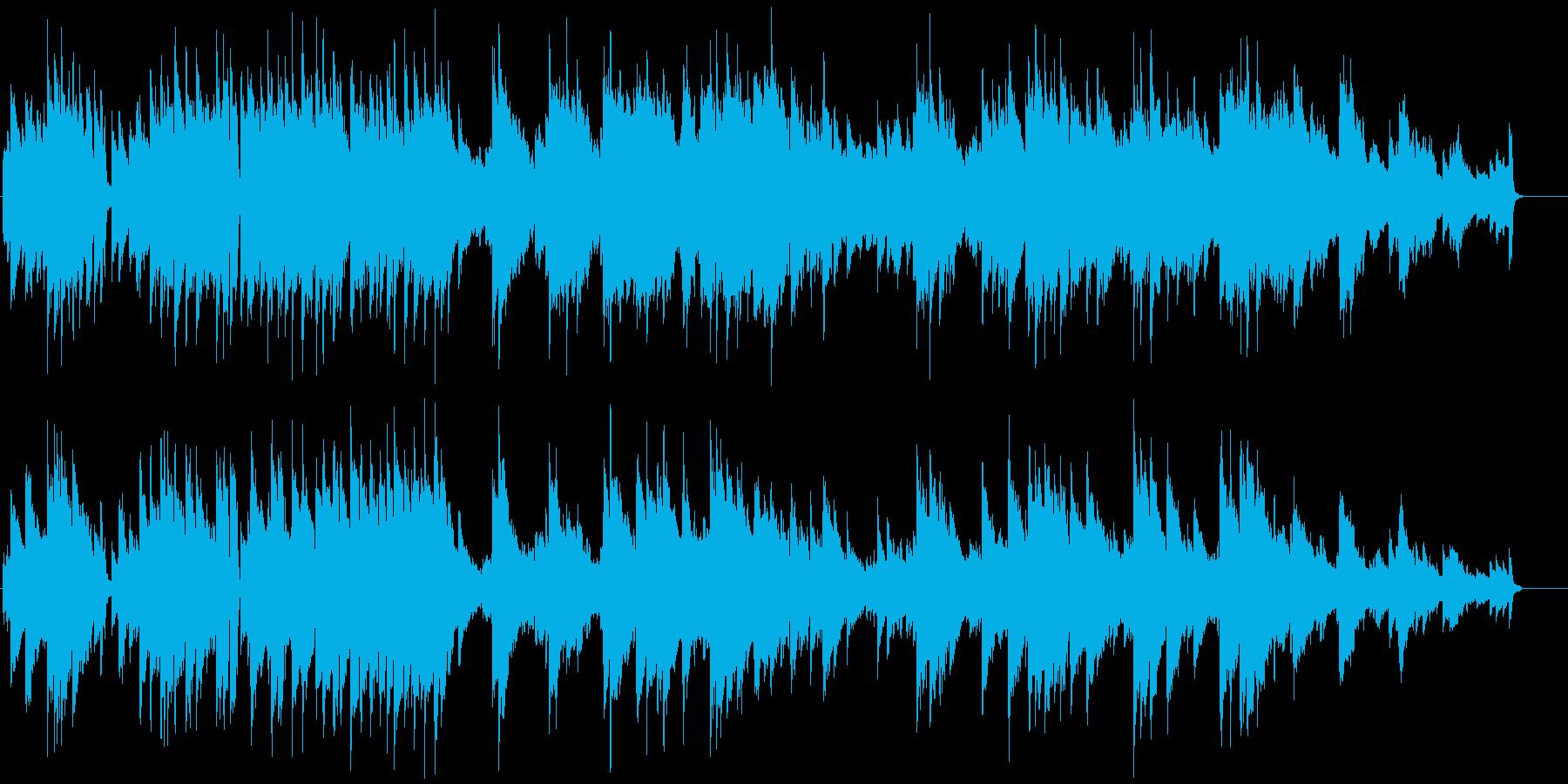 ドラマティックなピアノジャズの再生済みの波形