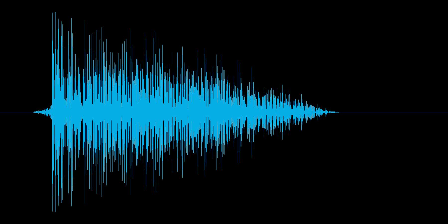 ゲーム(ファミコン風)爆発音_015の再生済みの波形