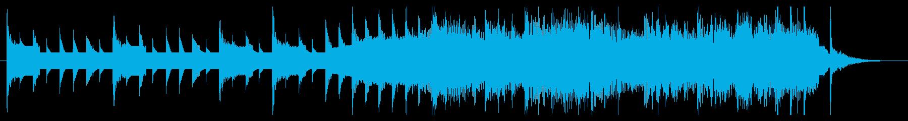 ファミコン風 かわいい&ハッピーな曲の再生済みの波形