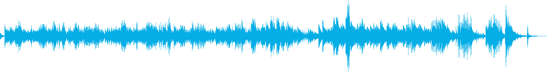 悲しみに暮れるピアノ曲(哀愁、切ない)の再生済みの波形