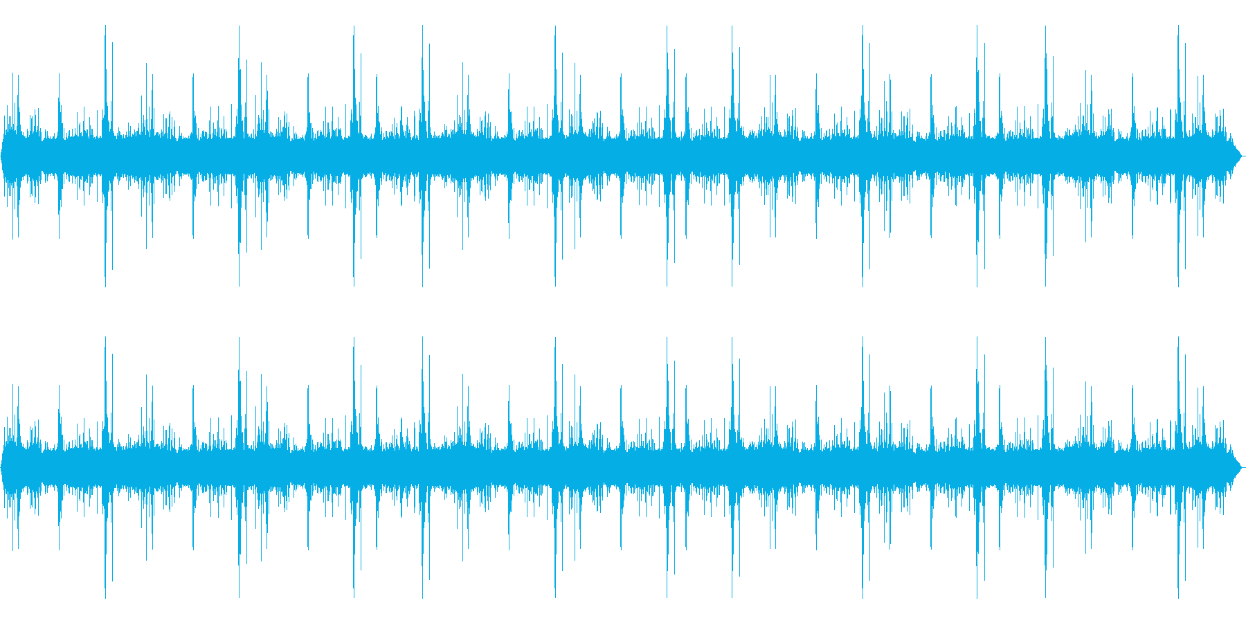 【環境音】大雨+雷ゴロゴロ .01の再生済みの波形