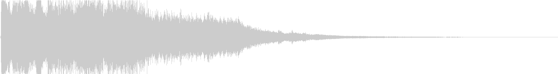 8bitとピアノの場面転換ジングルの未再生の波形