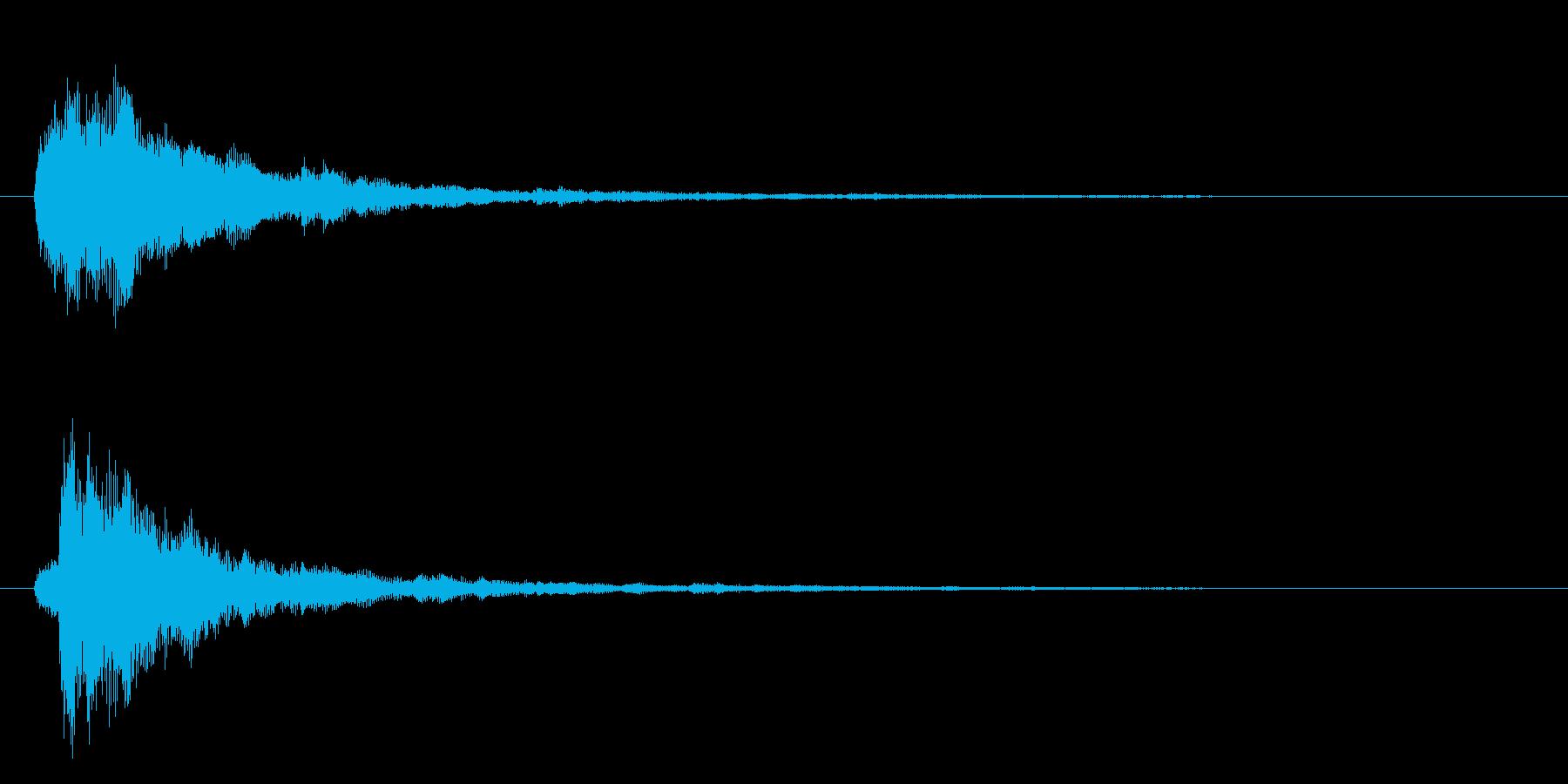 ロボ系の音の再生済みの波形