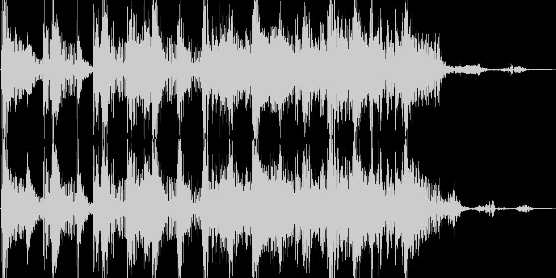 ファンキー 温泉に浸るイメージのジングルの未再生の波形