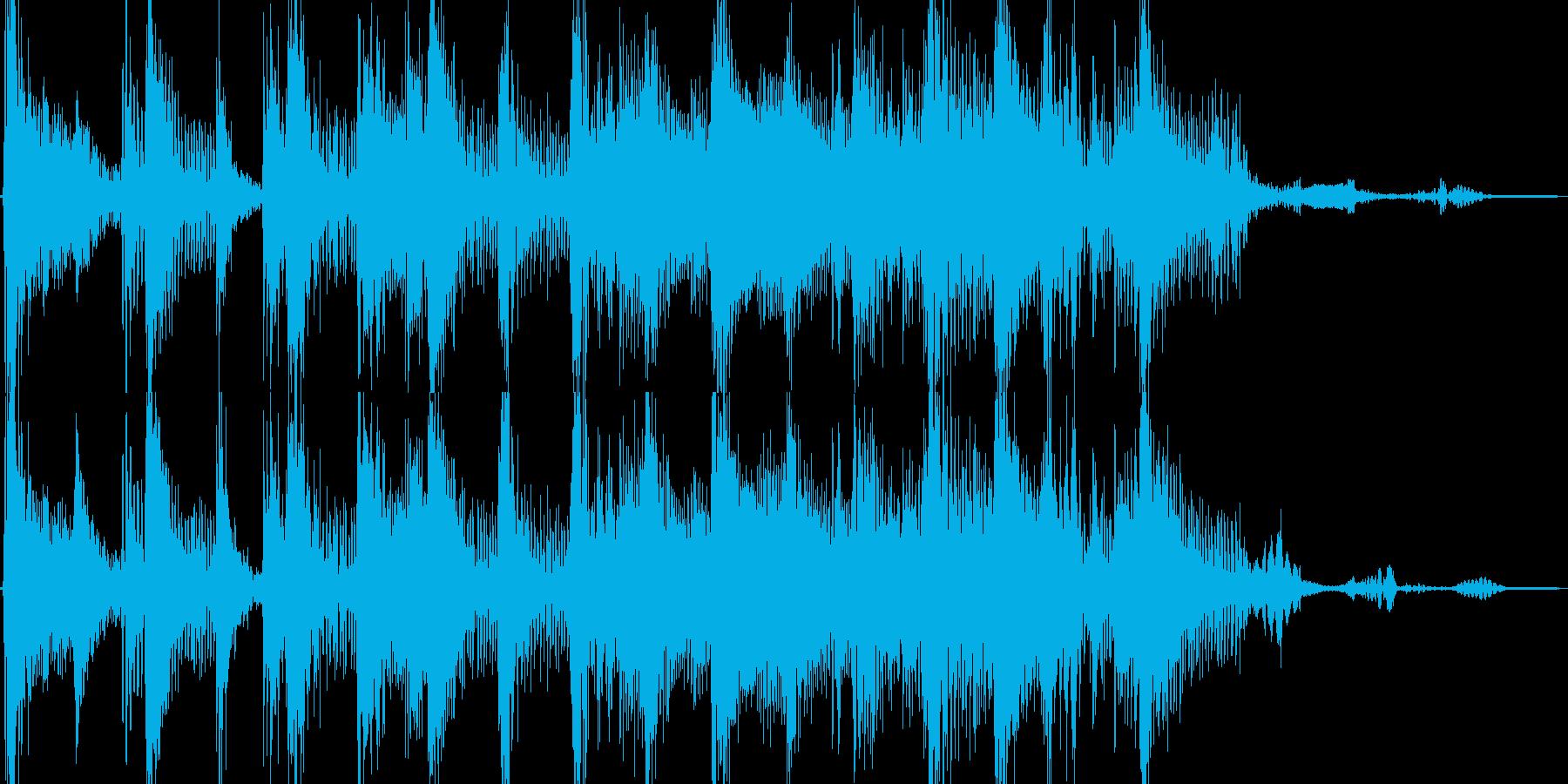 ファンキー 温泉に浸るイメージのジングルの再生済みの波形
