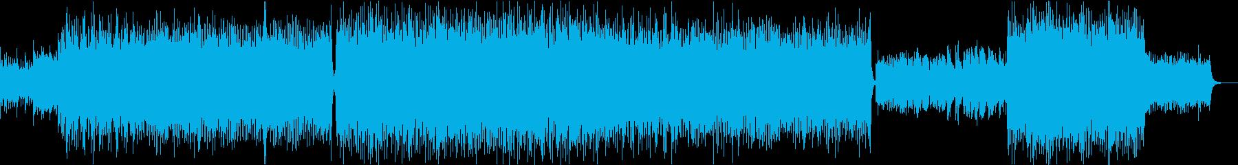 ピアノが印象的な疾走感のある曲の再生済みの波形