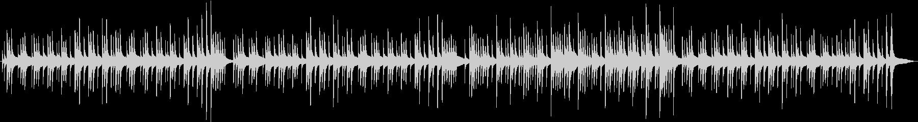 グロッケンのみのオルゴール風BGMの未再生の波形