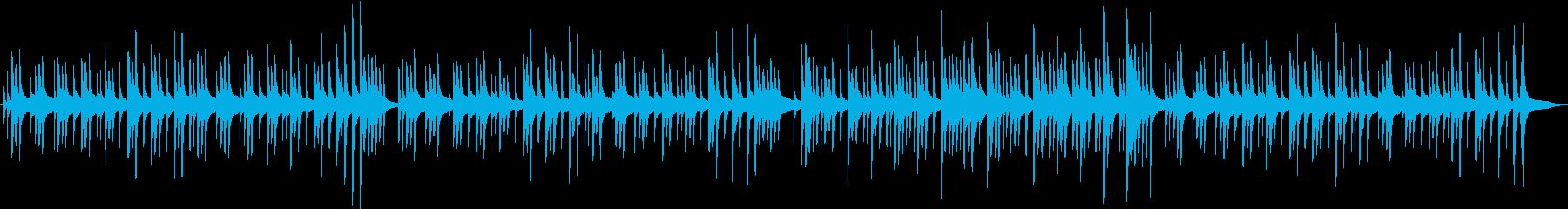 グロッケンのみのオルゴール風BGMの再生済みの波形