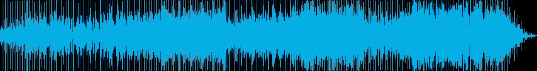 ヒップホップ風のリズムのR&Bバラードの再生済みの波形