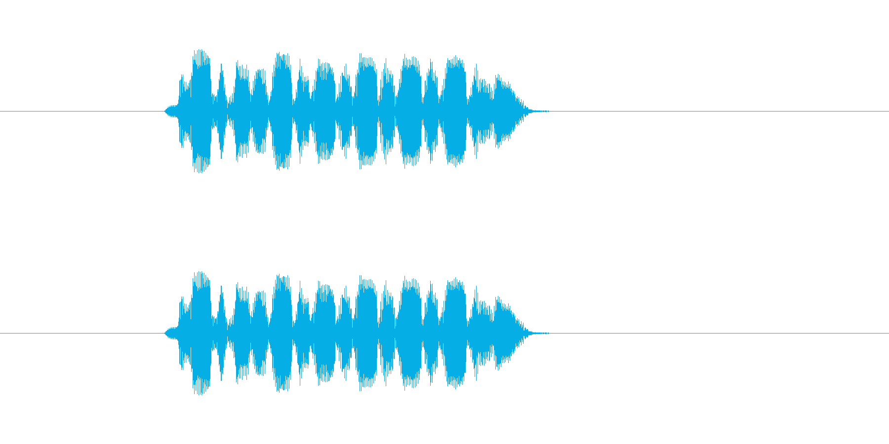 ベロベロベロの再生済みの波形