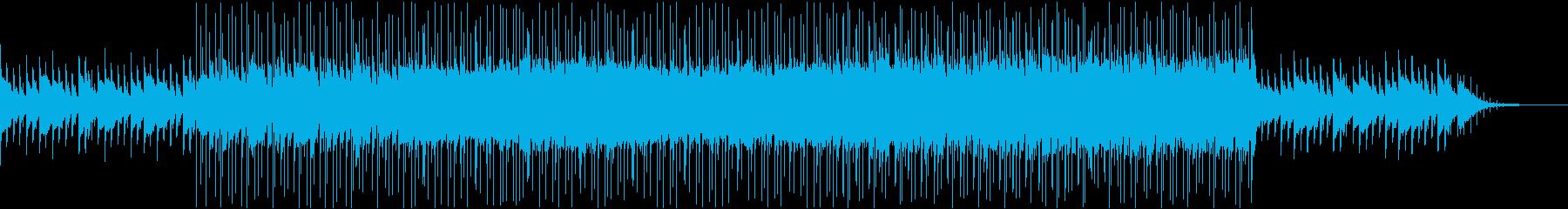 朝の爽やかな空気を吸い込むBGMの再生済みの波形