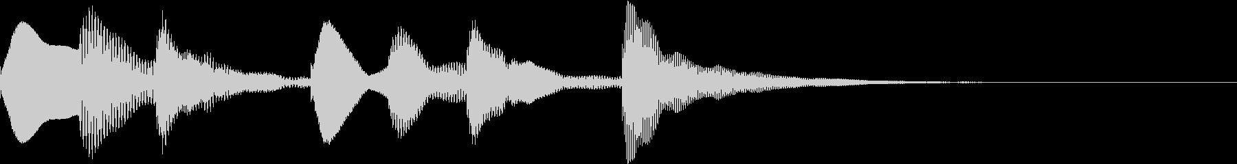 マリンバ軽快な定番ジングルの未再生の波形