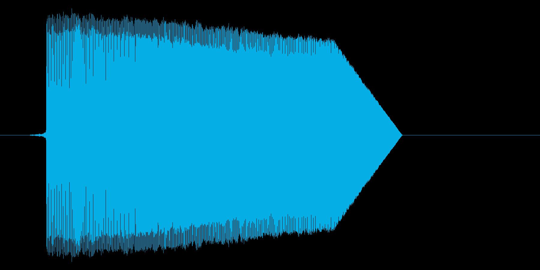 ゲーム(ファミコン風)ジャンプ音_025の再生済みの波形