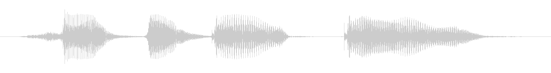 ティーンメスC:ハッピーバースデーの未再生の波形