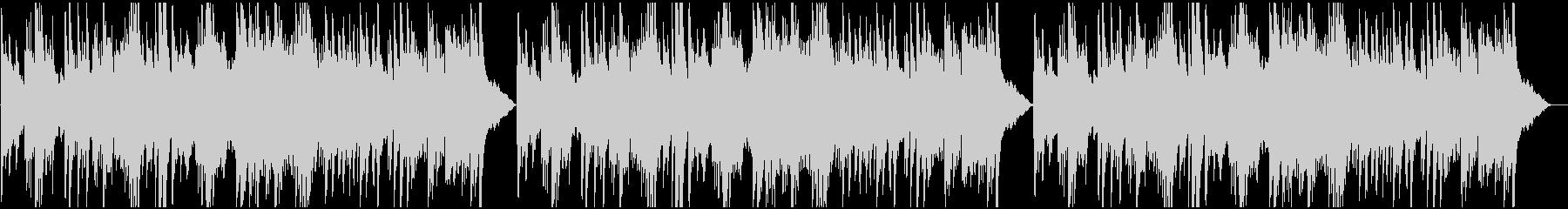 ピアノとストリングスで不安を表現した曲の未再生の波形