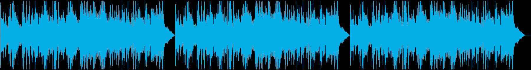 ピアノとストリングスで不安を表現した曲の再生済みの波形