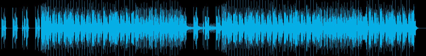 ミステリアス感のシンセサイザーサウンドの再生済みの波形
