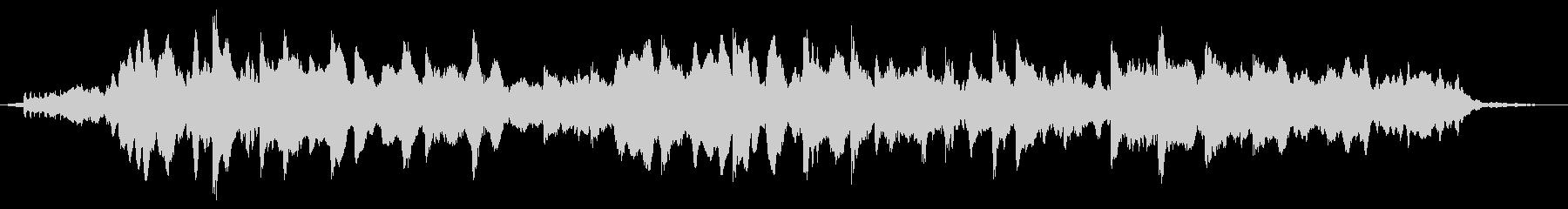 ピアノとストリングスによる癒し系BGMの未再生の波形