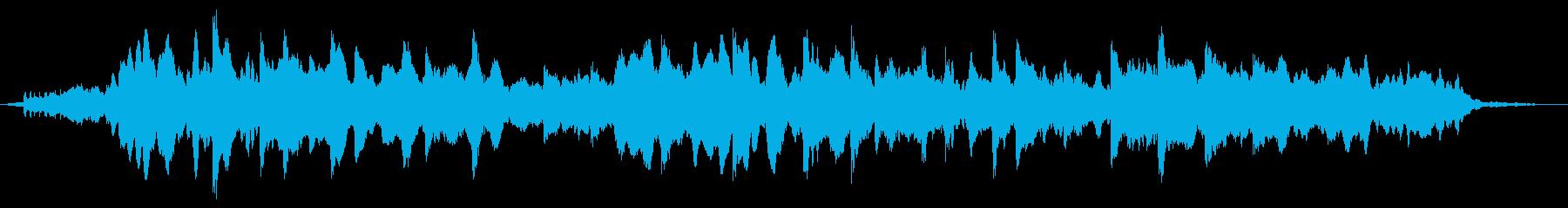 ピアノとストリングスによる癒し系BGMの再生済みの波形