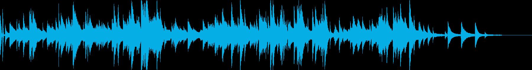 夜のバーで会話するシーンをイメージした曲の再生済みの波形
