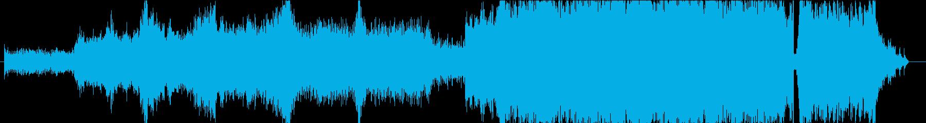 オーケストラとシンセの未来的ハイブリッドの再生済みの波形