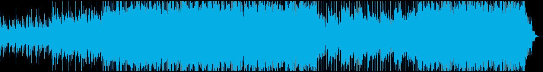 ポップスでインスピレーションのある曲の再生済みの波形