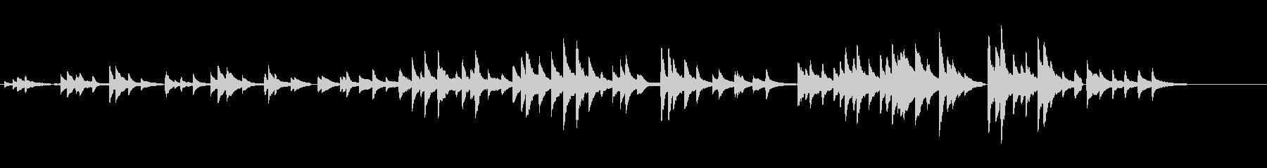 ゆったりとしたピアノソロの未再生の波形