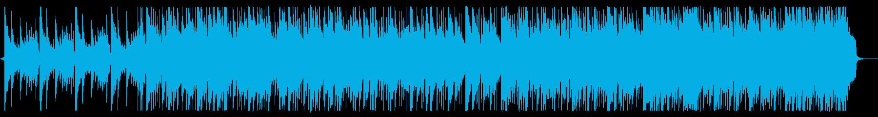 爽やかなピアノ主体のオープニング曲の再生済みの波形