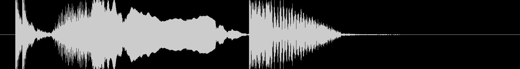 和風 鼓ジングル よぉ 太鼓締め2の未再生の波形