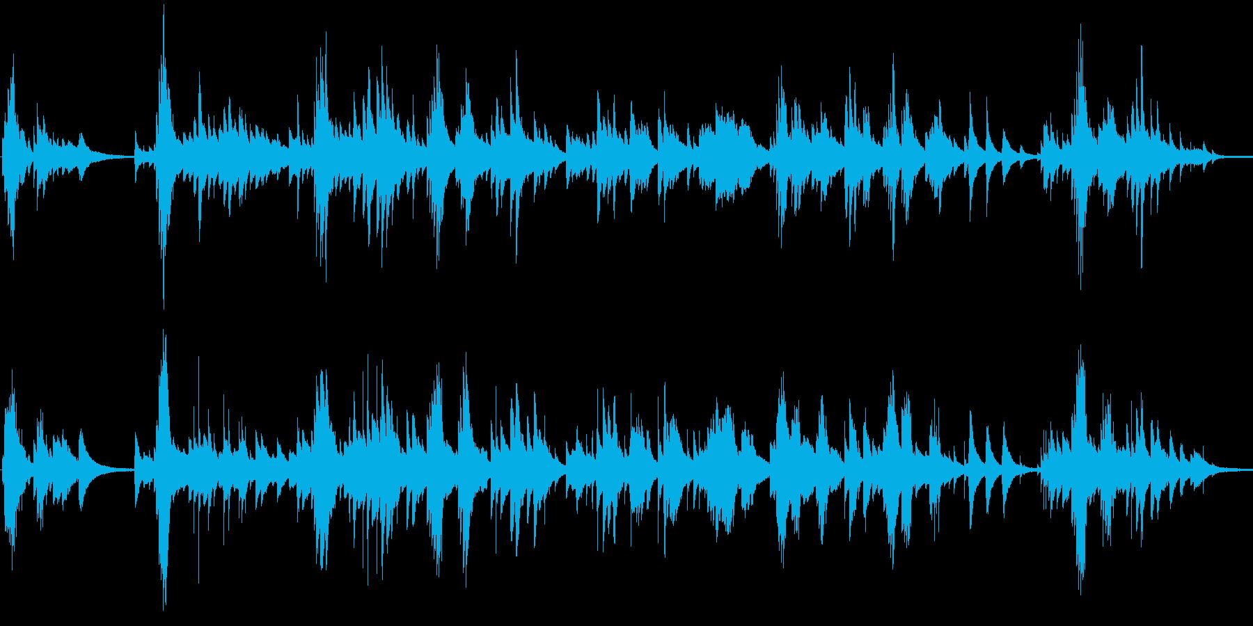 暖かく少し切ないピアノBGMの再生済みの波形
