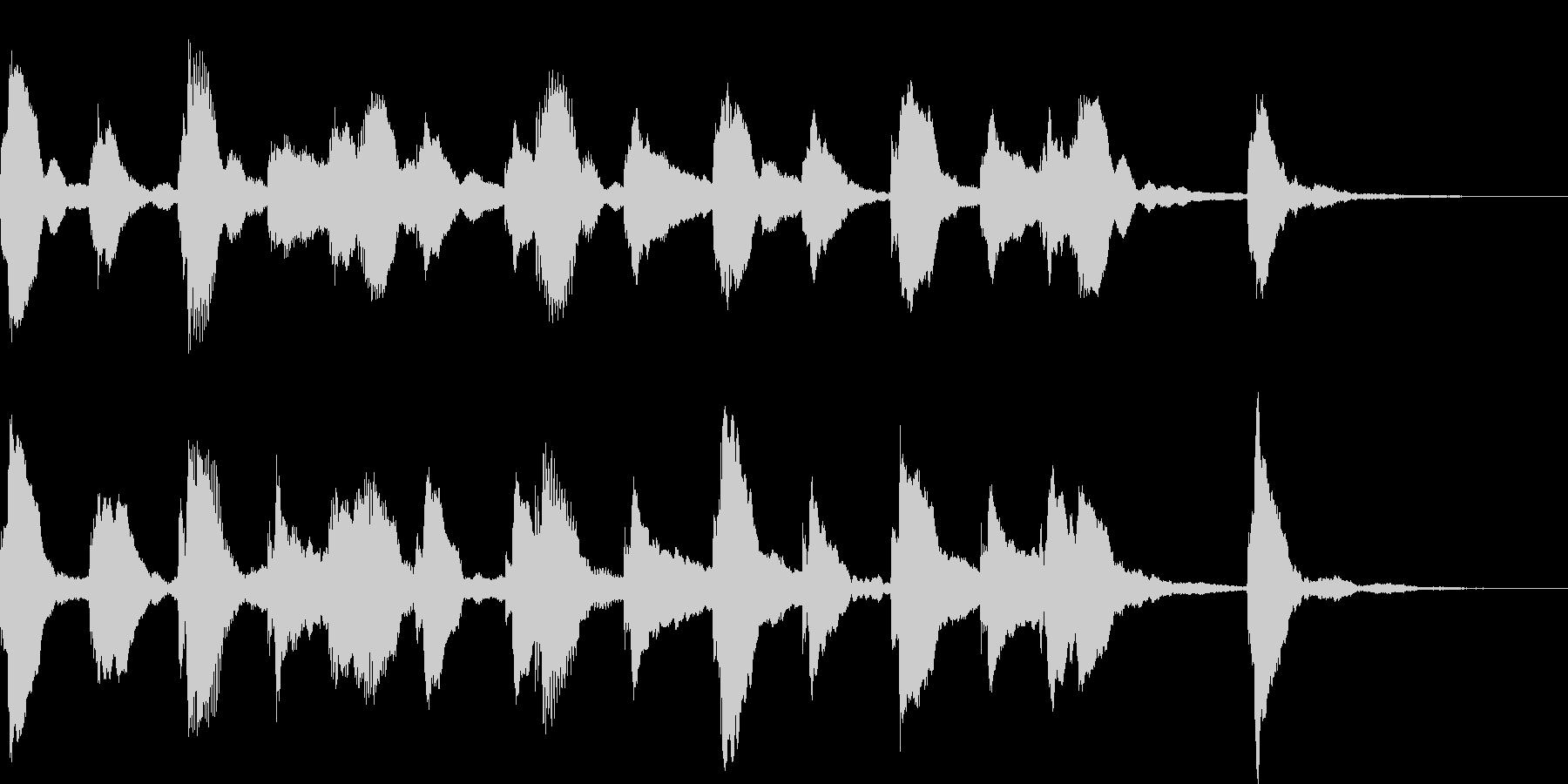 ピアノのフレーズが動きを生み出すの未再生の波形
