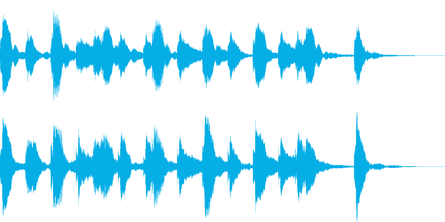 ピアノのフレーズが動きを生み出すの再生済みの波形