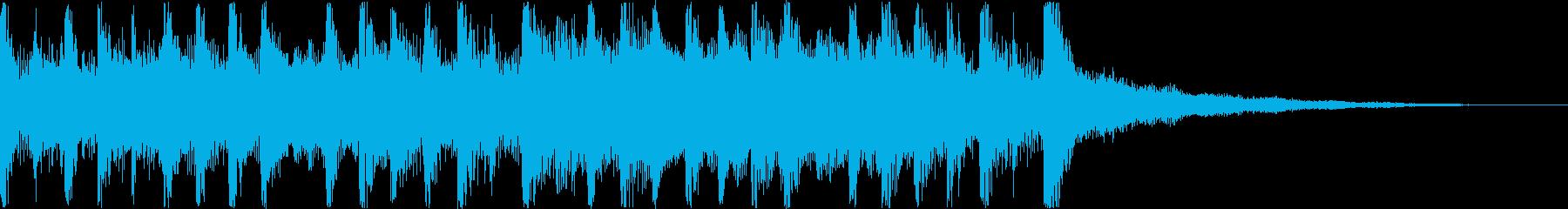 メカニックな重圧のあるトランスポップスの再生済みの波形