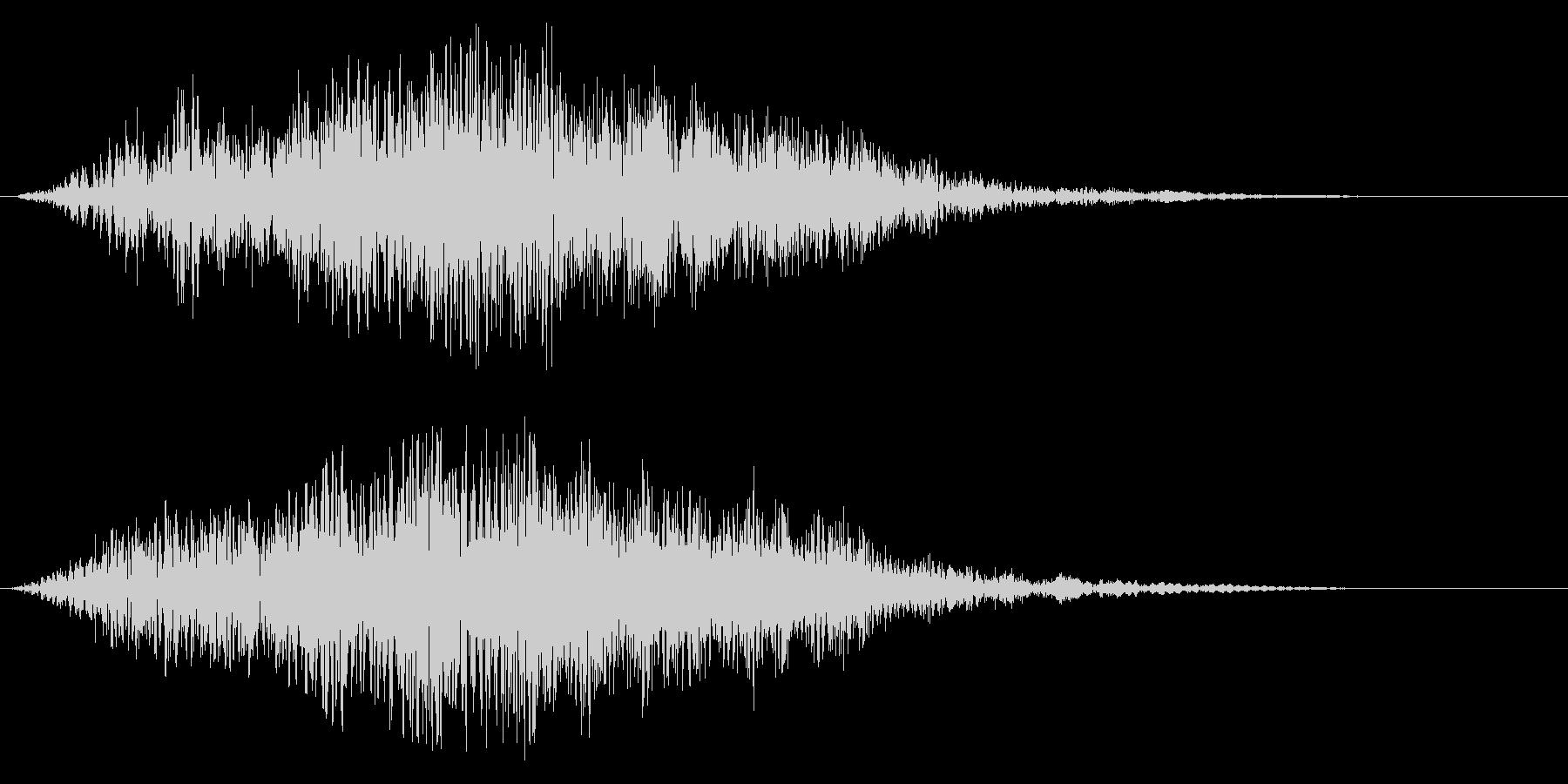 柔らかいタイトルアップ音の未再生の波形