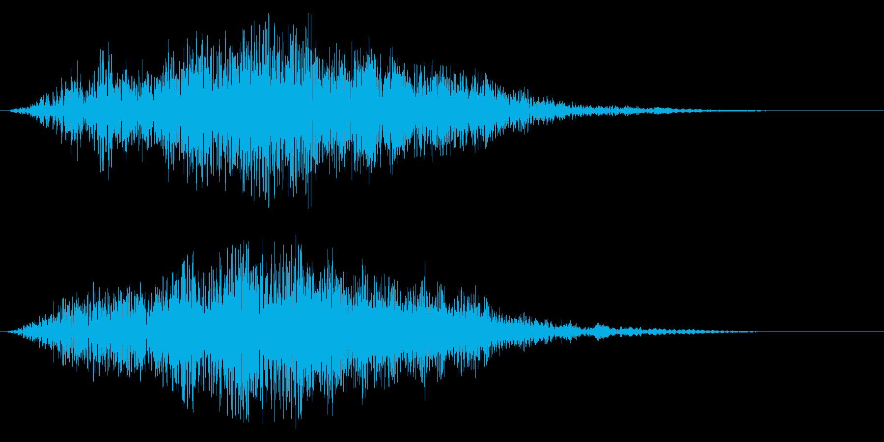 柔らかいタイトルアップ音の再生済みの波形