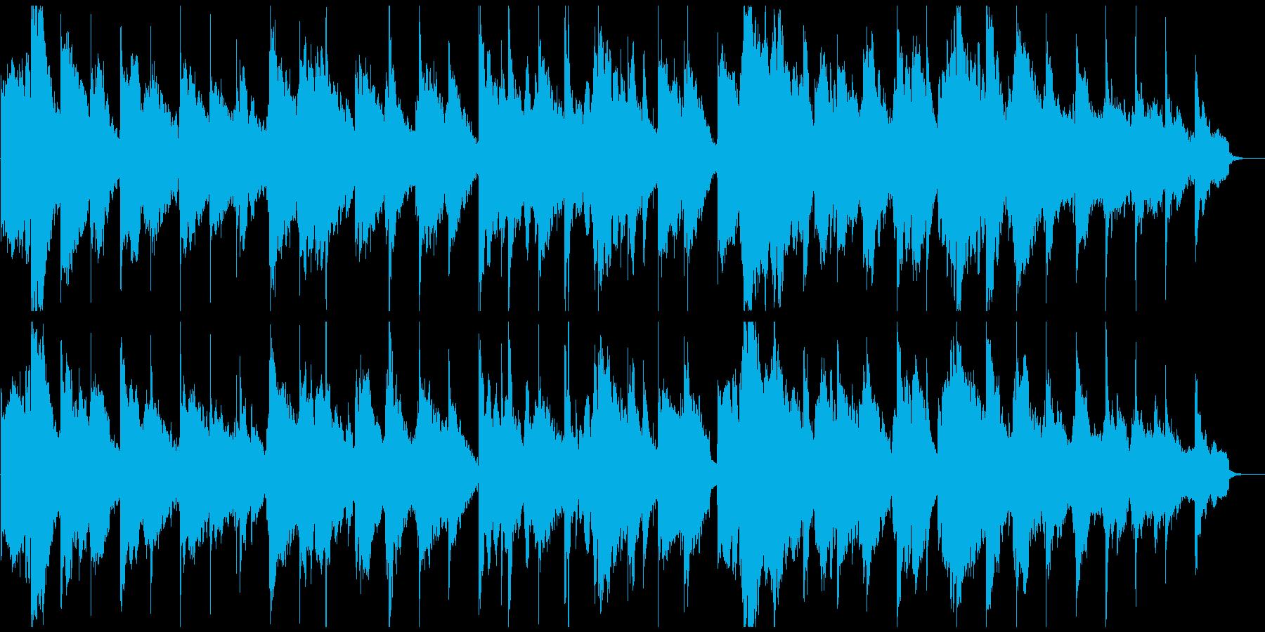 安眠系、ふわふわリラクゼーションBGMの再生済みの波形